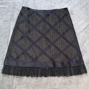 Chanel Authentic Vintage Black Lace A-Line Skirt